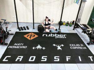 Piso emborrachado para CrossFit